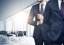 Two businessmen in modern office